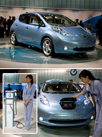 Nissan Leaf - leading, environmentally friendly, affordable, family car